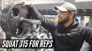 HOW TO SQUAT 315lbs FOR REPS | LEG DAY TO GROW YOUR LEGS