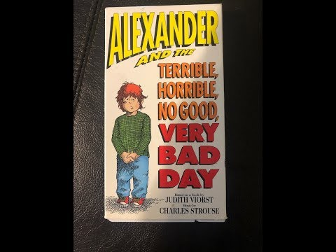 Alexander And The Terrible Horrible No Good Very Bad Day (Full 1990 Golden Book Video VHS)