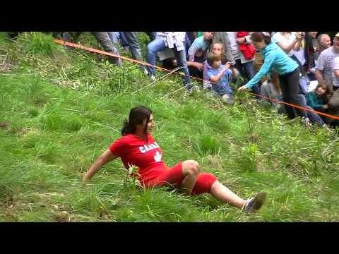 Cheese Rolling at Cooper's Hill, Gloucestershire, 2014.
