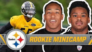Devin Bush, Benny Snell on first minicamp practice, fitting with team, & more | Pittsburgh Steelers
