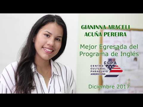 Gianinna Acuña, mejor egresada del Programa de  inglés del CCPA
