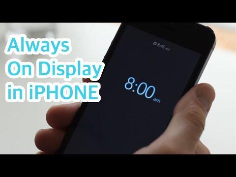 Как установить время на экране айфона