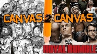 From the WWE Canvas to the Art Canvas - Official Royal Rumble Poster - Canvas 2 Canvas