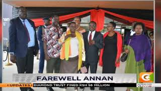 Raila and Lusaka in Ghana for Annan's burial #DayBreak