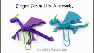 Dragon Paper Clip Bookmark Craft