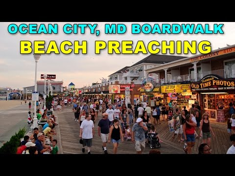 Boardwalk Beach Preaching In Ocean City, MD | Kerrigan Skelly of PinPoint Evangelism