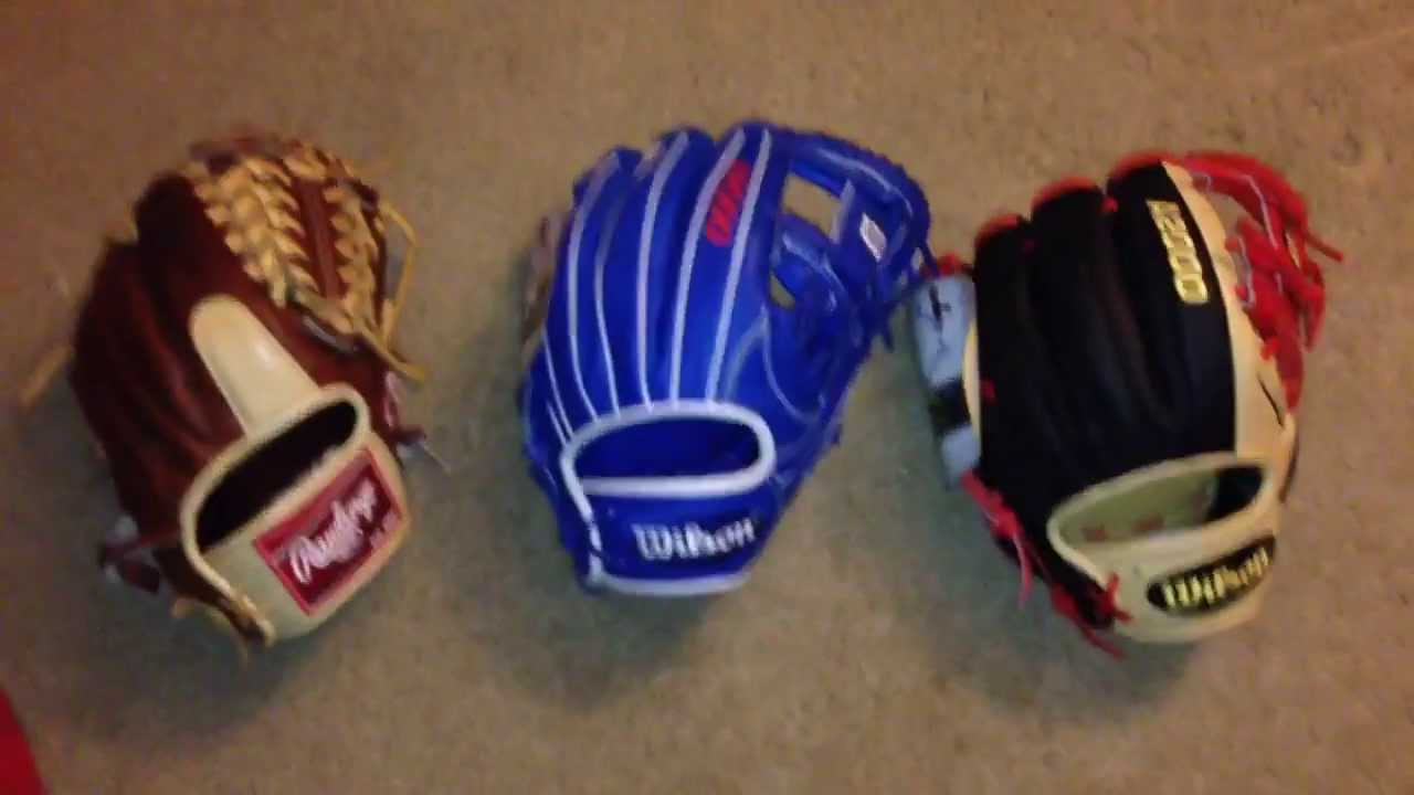 Wilson a2000 Glove of the Months and Rawlings Pro ...