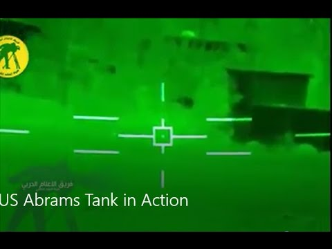 US Abrams Tank in Action vs ISIS