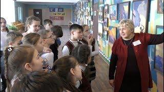 Крым Алуштинская школа Выставка ''Природы дивное звучанье'' 2018.02