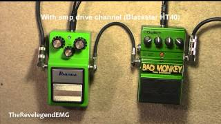 ♫ Digitech Bad Monkey vs Ibanez TS9 Tube Screamer ► (HD Audio)