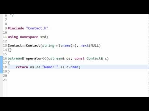 Data Structures Using C++: Linked List Implementation Part I (Node Class)