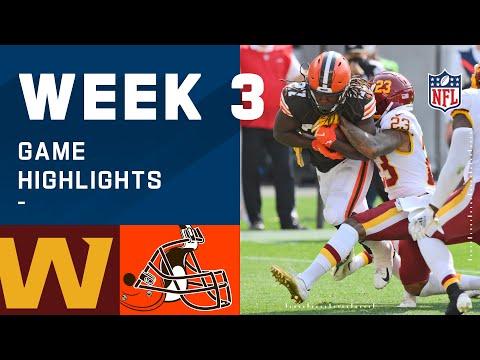 Washington Football Team vs. Browns Week 3 Highlights | NFL 2020