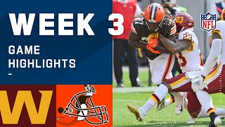 Washington Football Team vs. Browns Week 3 Highlights | NFL 2020