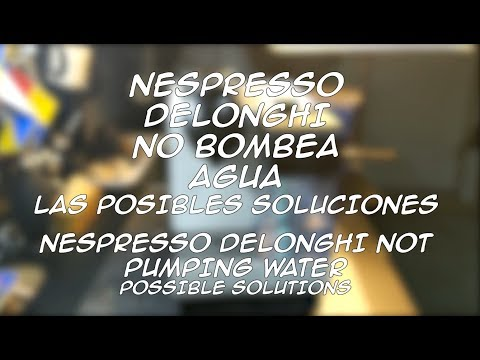 nespresso-delonghi-not-pumping-water-possible-solutions
