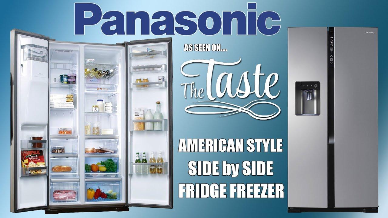 American Side By Side Fridge Freezer Part - 27: Panasonic NR B53V2 American Style Side By Side Fridge Freezer - YouTube