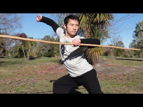 Shaolin Kung Fu Wushu Bo Staff Spinning Tutorial for Beginners