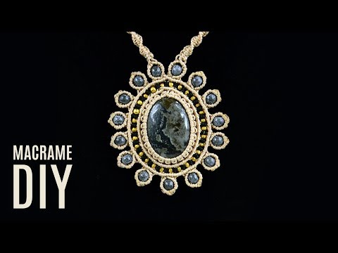 Vintage Macramé Sun Necklace Pendant Tutorial | Macrame School