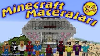 Örümcek Adam Minecraft'ta Örümcek Bebeğe Asansörlü Ev Yaptı Minecraft Maceraları Bölüm 34