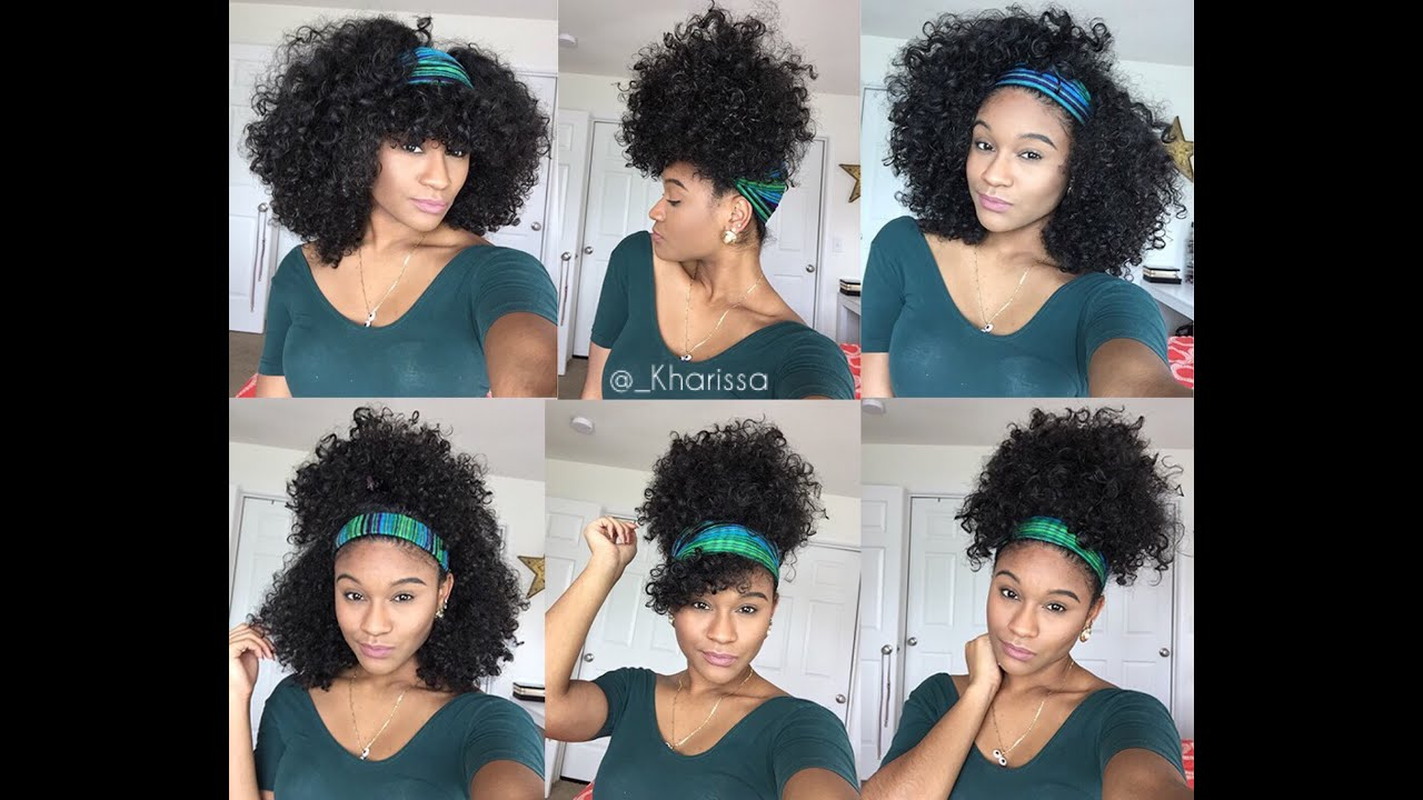 6 Quick And Easy Headband Styles For Natural Hair Youtube