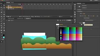 La animación de un Fondo de Bucle de Adobe Animate CC