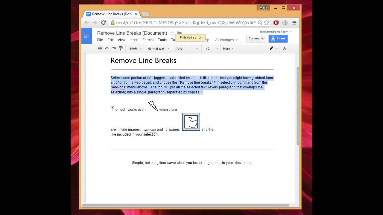 Remove Line Breaks In Google Docs Youtube Google docs is google's word processor program, which is available through the google drive software. remove line breaks in google docs