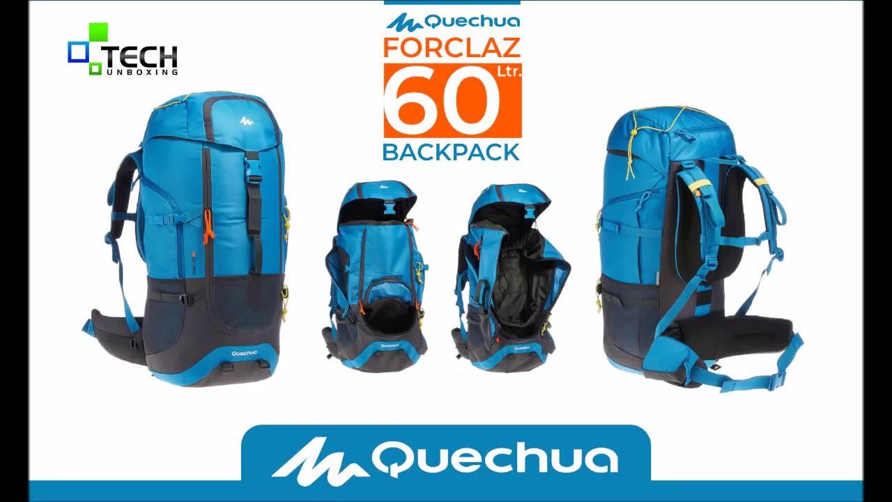 e4be792b9 QUECHUA FORCLAZ 60 ltr Trekking Backpack 60 L DECATHLON - YouTube