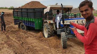 Swaraj 744 tractor stuck in heavy load Raju ki masti