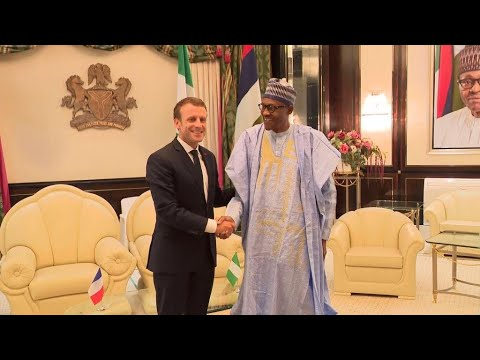 Download French president Macron in Nigeria to talk security with Buhari, boost cultural ties