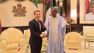 French president Macron in Nigeria to talk security with Buhari, boost cultural ties