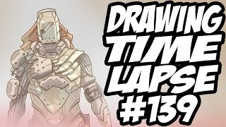 Drawing Time Lapse #139 - Sniper Character Concepts