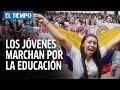 Marcha masiva de estudiantes en Bogotá | EL TIEMPO
