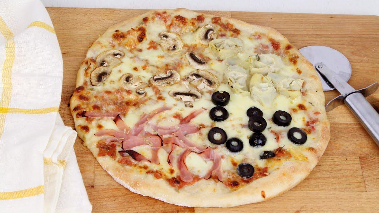 🍕🍕PIZZA 4 ESTACIONES CON THERMOMIX🍕🍕| Masa de pizza casera | Receta fácil