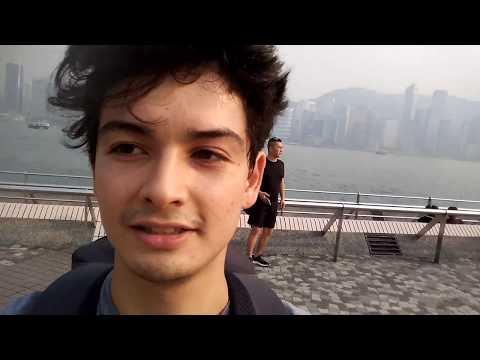 HK VLOG23p Victoria sea view:La vue de la me au port Victoria Eng:Fr