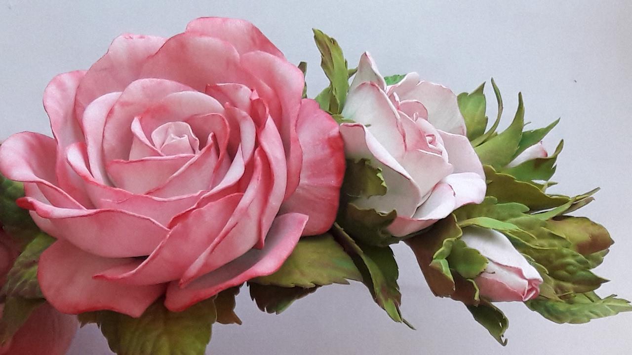 Цветы из фоамирана для заколки своими руками