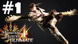 Monster Hunter 4 Ultimate Walkthrough Part 1 Gameplay Let