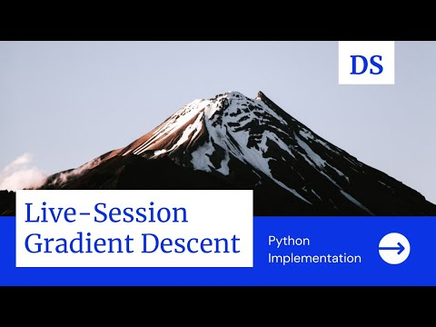 Live Session On Gradient Descent   Python Implementation   Machine Learning   Data Science   2021