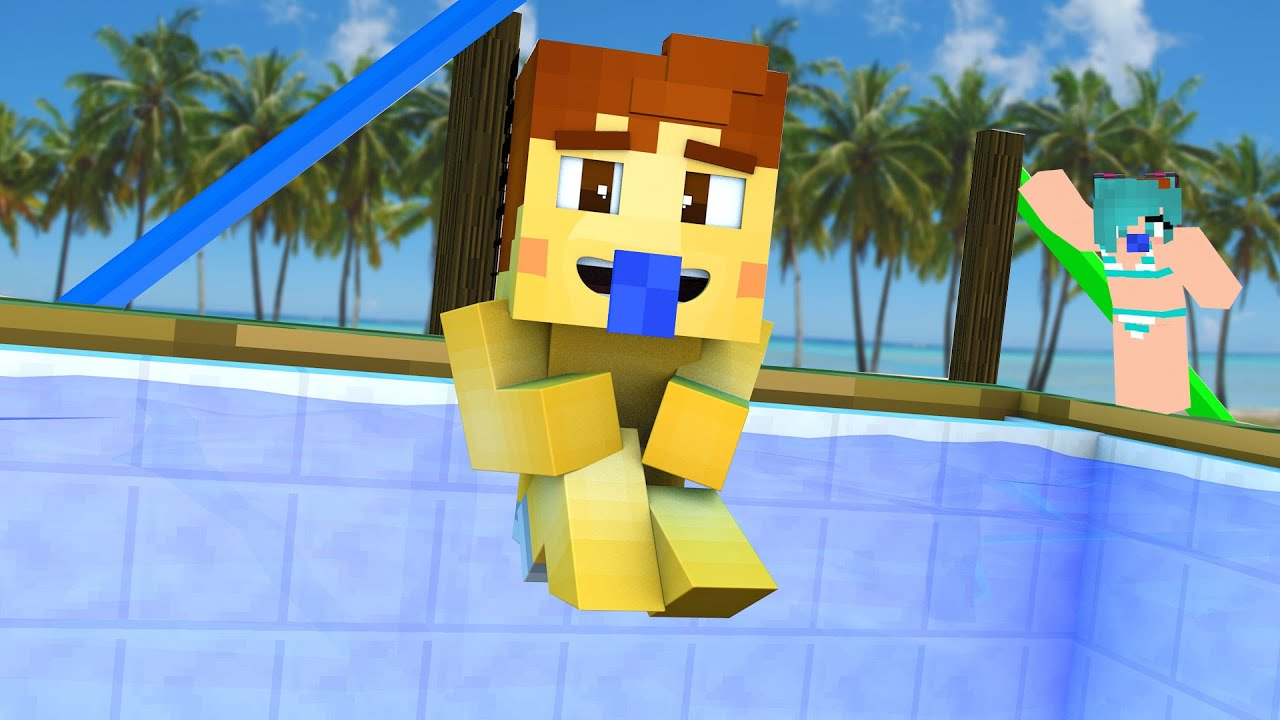 Minecraft daycare pool party kiss youtube - How to make a pool party ...