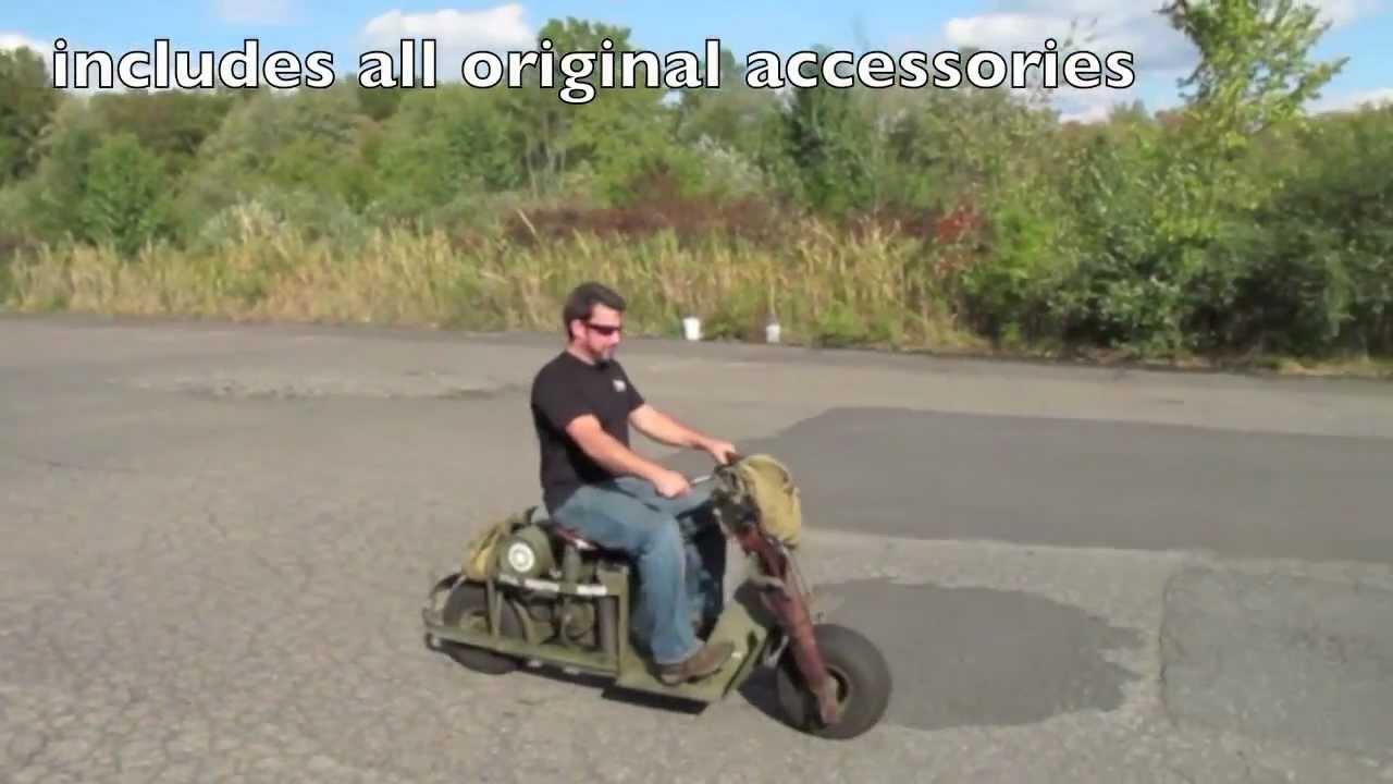 Origianl 1944 M53 Airborne Scooter Fully Restored Youtube