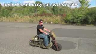Origianl 1944 M53 Airborne Scooter- Fully Restored!