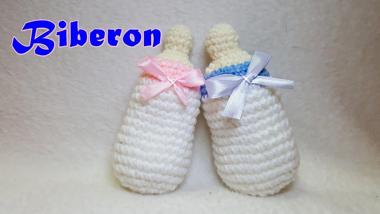 Biberon All Uncinetto Tutorial Idea Bomboniera Nascita Battesimo Crochet Baby Bottle