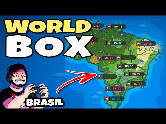 Coloquei os ESTADOS Brasileiros pra DUELAR! (WorldBox) // Simulador de Deus