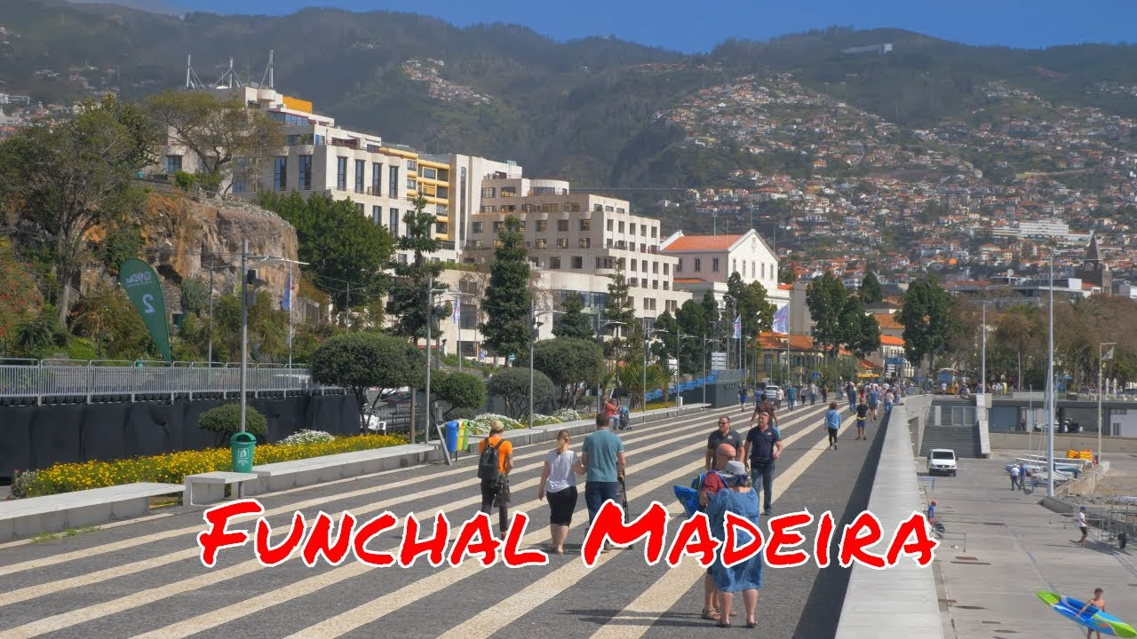 Madeira 2019 - A walk along the seaside and streets of Funchal - 2019.03.08 - 4k