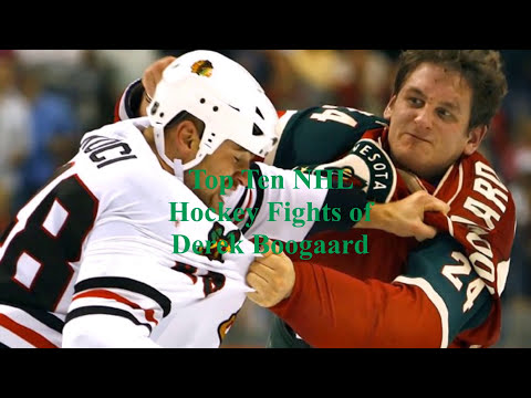 Top Ten NHL Hockey Fights of Derek Boogaard