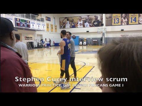 Entire STEPH CURRY interview: MCL rehab, 50/50 for G1, Chelsea Lane, starting vs bench, durability