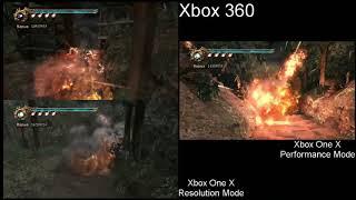 Ninja Gaiden II Xbox 360 vs Xbox One X