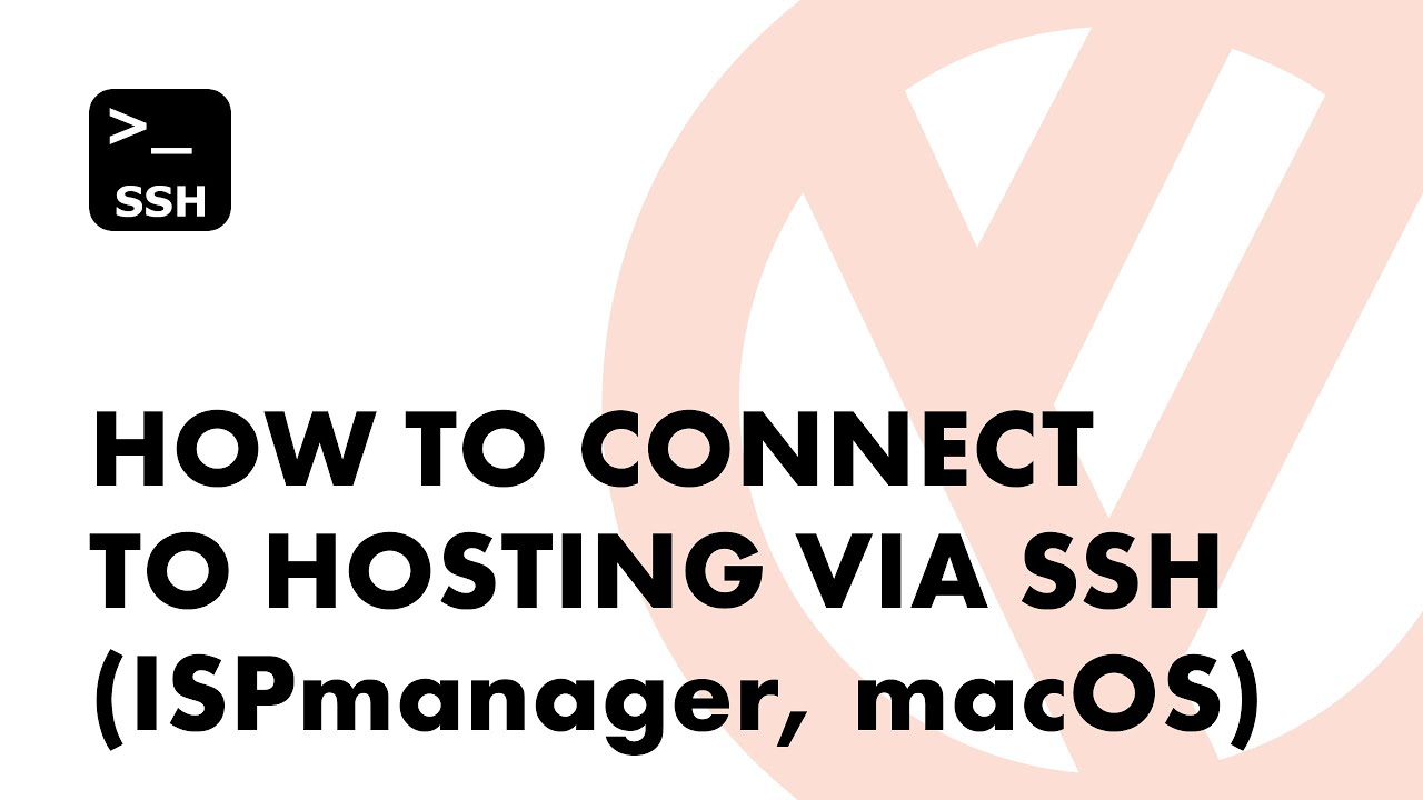 How to connect to hosting via SSH (ISPmanager, macOS)