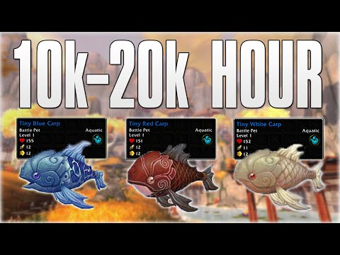 WoW Gold Farming 10k - 20k A HOUR! 7.0.3 Tiny Carp Gold Farming Tutorial (World Of Warcraft)
