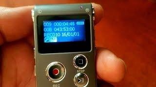 Máy ghi âm A609 nhỏ gọn cho học sinh - Pin dùng được 10 tiếng liên tục.