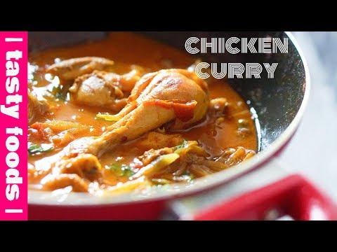 LIGHT CHICKEN CURRY | HOT & SPICY CHICKEN CURRY| Tasty Foods | 4k