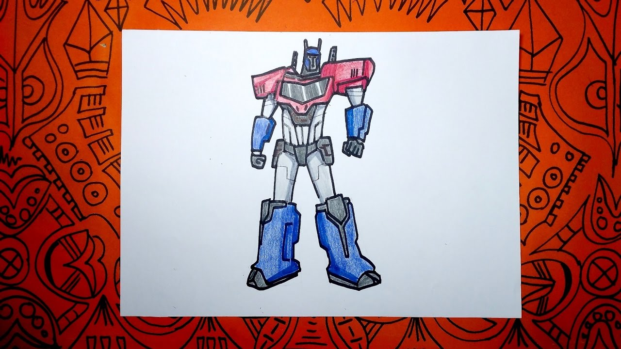 Aprende A Dibujar A Optimus Prime De Transformers Paso A Paso
